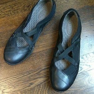 Privo by Clarks black slip on walking shoes